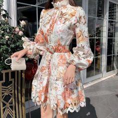 Floral Embroidery Dress, Floral Lace Dress, Lace Dress Styles, Floral Dresses, Vintage Dresses, Cheap Dresses, Short Dresses, Long Sleeve Short Dress, Long Sleeve Floral Dress