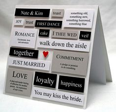 handmade wedding card ... a very different lookk from any other wedding card I've seen