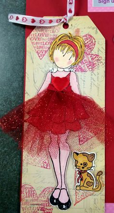 May 2015 - A card using paper artsy paint, Jofy stamps, Julie Nutting doll . Prima Paper Dolls, Prima Doll Stamps, Handmade Tags, Paper Tags, Artist Trading Cards, Copics, Card Tags, Tag Art, Scrapbook Cards