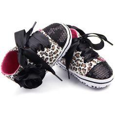 Barato Criança menina miúdo Leopard lantejoulas tênis antiderrapantes sapatos berço, Compro Qualidade Primeiros Caminhantes diretamente de fornecedores da China:  Recém-nascido criança do bebé Kid Lace Up Leopard lantejoulas sapatilha antiderrapante sapatos de berço.  Teste padrão