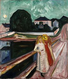 The Girls on the Bridge	1933-35	Kimbell Art Museum, Fort Worth, Texas, USA - Edvard Munch