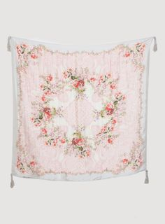 Johnny Was: Belletini Scarf :: much richer colors - slightly deeper red and pink -