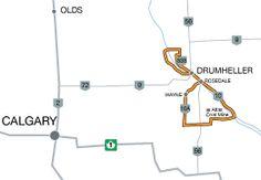 Road Trips in Alberta | DRUMHELLER VALLEY TOUR  Distance: approx. 170 km (106 mi)