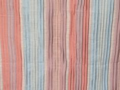 Peach And Teal Stripes Curtain Fabric By The Yard Upholstery Fabric Drapery Fabric Window Treatment Fabric Sofa Fabric Wholesale Fabric by FabricMart on Etsy