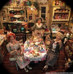 forget the Tea, bring on the wine! Miniature Rooms, Miniature Kitchen, Miniature Houses, Victorian Dollhouse, Dollhouse Dolls, Dollhouse Miniatures, Minis, Miniture Things, Beautiful Dolls