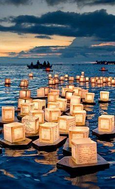Floating Lantern Festival, #Honolulu, #Hawaii, USA