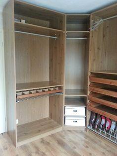 X4 Wardrobe Storage Dressing Room Bedroom Furniture Ikea Oak