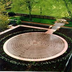 New Harmony, Indiana. Labyrinth.