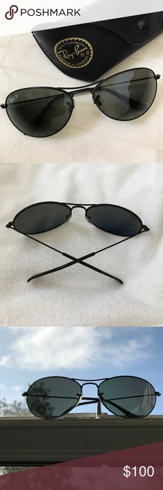 """NWOT Ray-Ban RB3172 """"NewPilot"""" aviator sunglasses Rare Ray-Ban RB 3172 """"New Pilot"""" aviator style sunglasses, worn to try on, no tags. Polarized lenses with no scratches. Frame made in Italy. Original case included. See photo for frame & lens specs. Ray-Ban Accessories Sunglasses"""