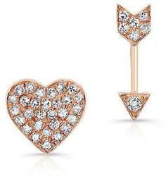 Anne Sisteron Diamond Cupid Earrings