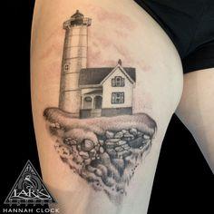 #LarkTattoo #HannahClock #HannahClockTattoo #HannahClockLarkTattoo #FemaleTattooer #FemaleArtist #LadyTattooer #Lighthouse #LighthouseTattoo #ThighTattoo #BNG #BNGInkSociety #BNGTattoo #BlackAndGrey #BlackAndGreyTattoo #BlackAndGray #BlackAndGrayTattoo #Tattoo #Tattoos  #TattooArtist #Tattoist #Tattooer #LongIslandTattooArtist #LongIslandTattooer #LongIslandTattoo #TattooOfTheDay #Tat #Tats #Inked #Ink #TattooInk #AmazingInk #AmazingTattoo #BodyArt #LarkTattooWestbury #Westbury #LongIsland… Lark Tattoo, Black And Grey Tattoos, Lighthouse, Tattoo Artists, Cool Tattoos, Tatting, Body Art, Piercings, Clock