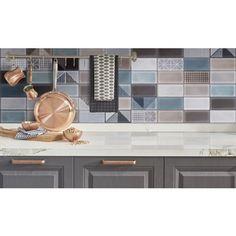 EGE TILE CARINA - dekorcsempe (mintás/kék/barna mix, 30x60cm, 1,08m2) - Dekorcsempe - Csempe és padlólap - Padló-Fal Fal, Bauhaus, Buffet, Cabinet, Storage, Modern, Furniture, Home Decor, Dekoration