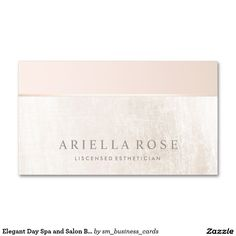 Elegant Day Spa and Salon Blush Pink White MarbleStandard Business Cards. Great for Estheticians, makeup artists, cosmetologists, cosmetic reps and more.