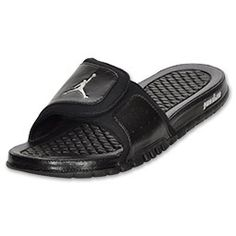 jordan black sandal