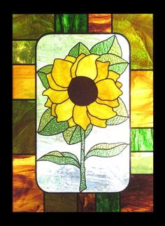 Custom Made Sunflower - Floral Stained Glass