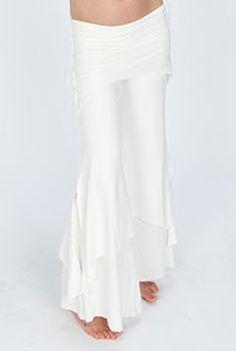 3 Tier Flow Pants - White Kundalini Yoga Pants