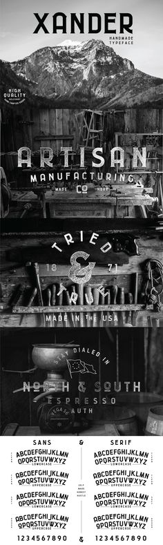 Xander - Xander is a typeface inspired by a time when people cared about craft, and creating things with th...