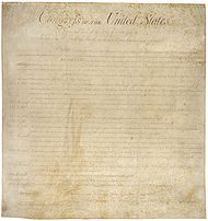 The website lists the bill of rights, complete with explanation of each Amendment.  When teaching about civics it is important to give students access to the bill of rights.