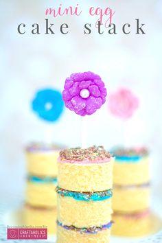 Craftaholics Anonymous®   Mini Eggs Cake Stack - Quick Easter Dessert