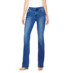 DG2 by Diane Gilman SuperStretch Denim Boot-Cut Jeans Black, White #DianeGilman #BootCut