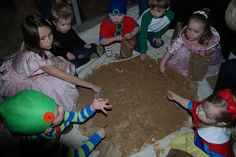 an idea for Emma's party - a Seven Dwarfs Mine where the kiddos can dig to find gems