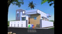 Front Elevation Designs, House Elevation, Village House Design, Village Houses, Modern Small House Design, Exterior Paint, Ground Floor, Paint Colors, Mansions