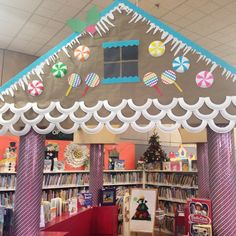 Gingerbread House Library Display
