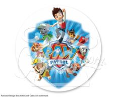 "Paw Patrol Yelp for Help PhotoCake®  Edible Cake Image , 7.5"" Image (sku: 4981)"