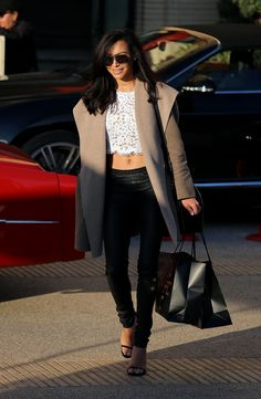 Naya Rivera's sexiest moments ever #streetstyle In my wildest dreams I could pull this off.