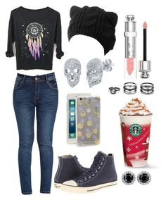 """"""""""" by nathaliabello on Polyvore featuring moda, Converse, BERRICLE, Sonix, Christian Dior e Lulu*s"""