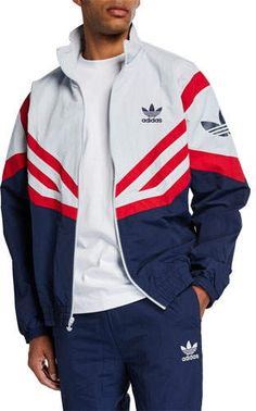 d0e98f05ae2 adidas Men s Colorblock Woven Track Jacket