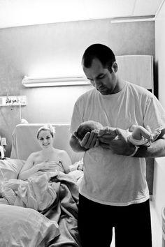 newborn photo in hospital