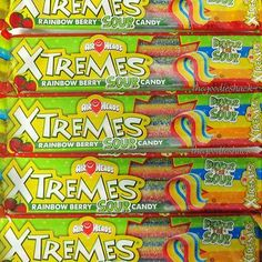18 Count Air Heads Chewy Ropes Extreme Rainbow Berry Sour Candy Airheads Xtremes | eBay