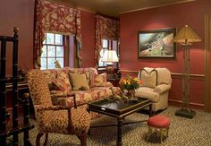 eclectic living room with leopard print carpet  images | Eclectic Family Room design by Philadelphia Interior Designer ...