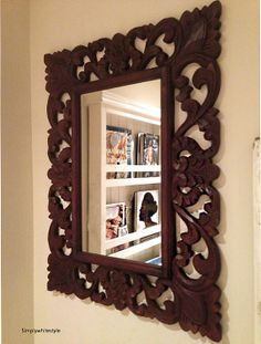 mirror of solid wood natural color 31.5 inch 23.5 in. at a special price