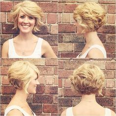 60 Cool Short Hairstyles & New Short Hair Trends! Women Haircuts 2017 - Short Layered Bob Hairstyles Front And Back View Bob Haircut Back View, Bob Haircut For Girls, My New Haircut, Cool Short Hairstyles, Layered Bob Hairstyles, Short Bob Haircuts, Short Haircut, Hair Styles 2014, Short Hair Styles