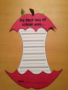 "I love this.   ""My First Day of School Was..."""