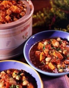 Caribbean Sweet Potato Stew - this is delicious!!!  Works well on the stove too.