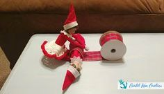 Coastal Mom Creations: Super Easy Elf on the Shelf Ideas Informations About Coastal Mom Creations: S The Elf, Elf On The Shelf, Toddler Calendar, Toddler Videos, Christmas Envelopes, Christmas Decorations, Holiday Decor, Christmas Elf, Shelf Ideas