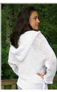 ~hoodie~Ravelry: Mesh Sweater/Coverup Crochet Pattern Child and Adult Sizes pattern by Stacey Tallman