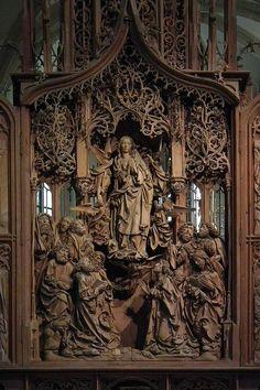 Creglingen, Herrgottskirche, Marienaltar 005 - Category:Riemenschneideraltar Creglingen - Wikimedia Commons
