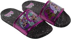 L Surprise! Girl's Sandal, Mix Match Baby Cat Merbaby Super BB Crystal Queen Cosmic Queen and Queen Bee Slide Sandal, Black Pink, Girls Size 10 to Ages 4 to 10 >>> Be sure to check out this awesome product. (This is an affiliate link) Girls Dress Shoes, Girls Heels, Girls Sandals, Girls Dresses, Baby Doll Accessories, Comfortable Heels, Lol Dolls, Baby Cats, Slide Sandals
