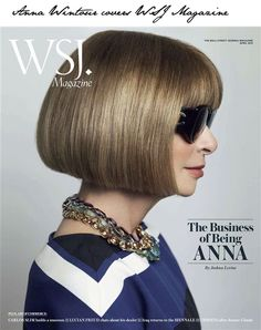 Anna Wintour does Wall Street Journal April, photography by Mario Testino