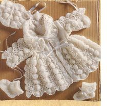 Baby KNITTING PATTERN Matinee Coat Bonnet and von carolrosa