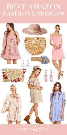 Amazon Fashion Under $40   Budget Fashion   Tassel Dresses Under 50   Affordable Fashion   Boho Fashion   Affordable Bamboo Bag   Summer Fashion