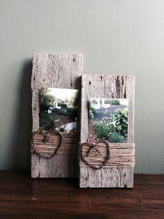60+ originálnych fotorámikov, ktoré si zvládnete vyrobiť aj doma takmer zadarmo - sikovnik.sk Barn Wood Crafts, Barn Wood Projects, Diy Projects, Barn Wood Decor, Reclaimed Wood Projects, Pallet Projects, Country Wood Crafts, Primitive Wood Crafts, Barnwood Ideas