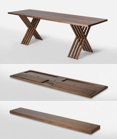 TSK iron & wood furniture Slim and Steller Teak Folding Table for Outdoor and Dining Folding Furniture, Modular Furniture, Space Saving Furniture, Wooden Furniture, Furniture Plans, Furniture Design, Furniture Makers, Folding Table Diy, Folding Coffee Table