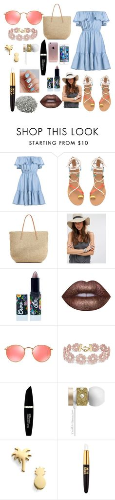 """Untitled #2822"" by marta-moreno-1 ❤ liked on Polyvore featuring Target, Pimkie, Lime Crime, Ray-Ban, BaubleBar, Max Factor, Beats by Dr. Dre and Seoul Little"