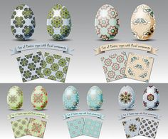 Perfect Easter eggs and backgrounds templates with beautiful pattern and seamless backgrounds with the same style as the painted egg. Free download.