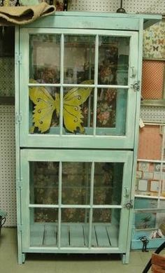 old #windows #upcycled into new cabinet